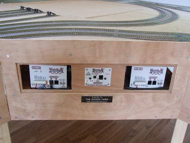 The control panel area incorporating the Digitrax Super Chief DCC Controller