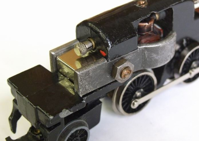 A Hornby Dublo 3 Rail N2 Tank Chassis fitted with a Super Neo Motor Magnet.